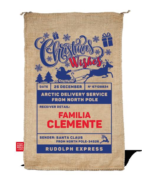 sacos de navidad personalizados
